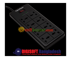 American#1 Fire Proof Surge Protector, 8 ways/outlets-01 Year Warranty