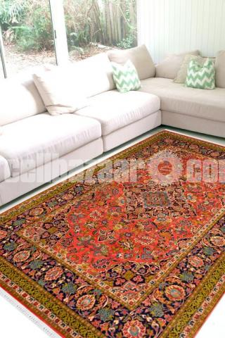 Auburn Medallion Woolen Carpet - Rugs and Beyond - 2/2
