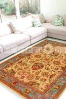 Floral Turquoise Woolen Area Carpet - Thanksgiving Rug Sale - Rugs and Beyond