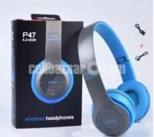 P47 - Wireless Bluetooth Headphone Multicolor - Image 3/3