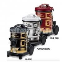 Hitachi Pail Can Type Vacuum Cleaner CV-950Y - 18.0L - Wine Red