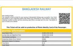 2 AC Barth Seat for Dhaka to Khulna