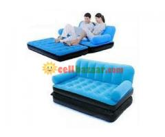 Double Air Sofa Come Bed blue 5 in 1