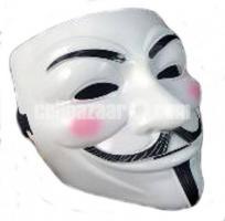 Vendetta hacker Mask - White and black (New)