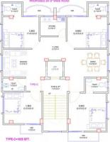 1655 sft Flat With car parking  62 Lac 4th-Floor