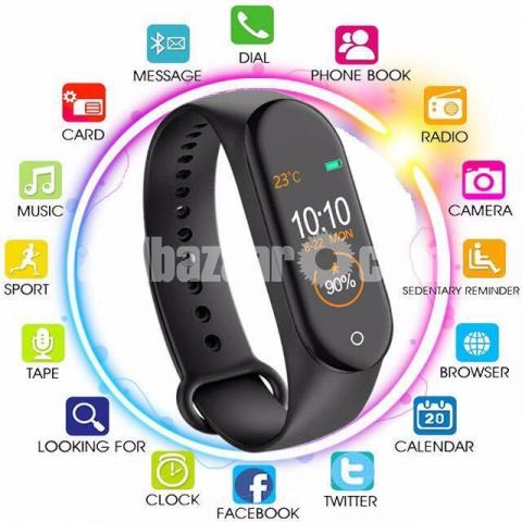 M4 Pro Smart Watch Fitness Tracker Smart Band Waterproof Smart Bracelet - 2/4