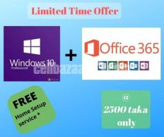 Windows + Office Combo pack with FREE Home Setup