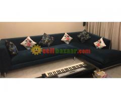 L shaped 5 seater sofa
