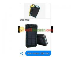Solar and electric charger