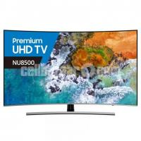 "Samsung NU8500 Premium 55"" Curved Built-In Subwoofer UHD TV"