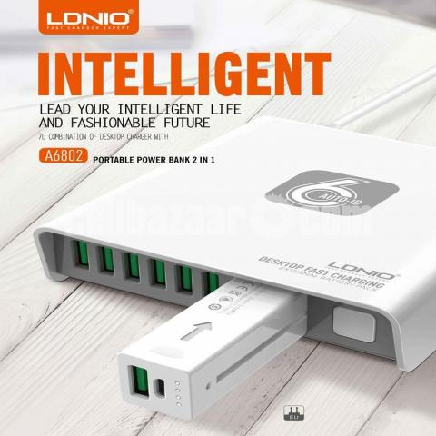LDNIO A6802 6 USB AUTO CHarger - 4/5