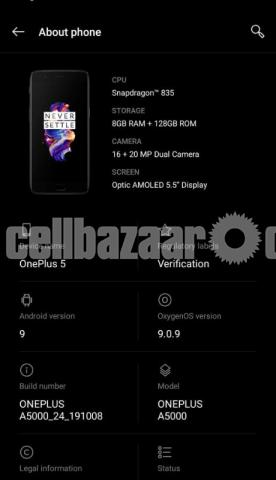 OnePlus 5 for sale ( No damage and no internal problem) - 1/3