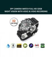 Spy Camera Watch HD Waterproof 32GB Night Vision Video with Voice Recorder