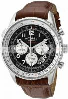 Rotary  7 GS03351/19 Stainless Steel Chronograph Brown Leather Strap  Rotary GS03351/19 Stainless St