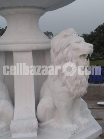Lion fountain for park or garden - 3/4