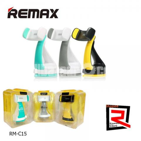 REMAX RM-C15 Car Mobile Phone Holder Desk Stand For Phone 360 Rotation Suction - 1/5