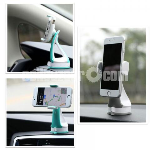 REMAX RM-C15 Car Mobile Phone Holder Desk Stand For Phone 360 Rotation Suction - 3/5