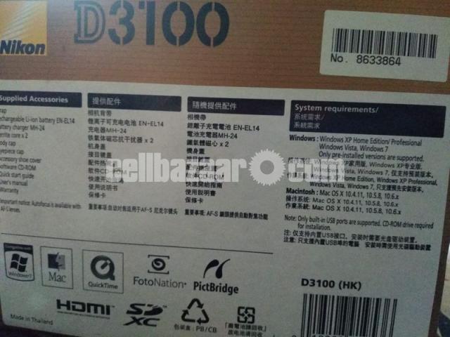 DSLR Nikon D3100 (body only) - 2/2