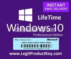 Windows 10 Pro License Lifetime activation