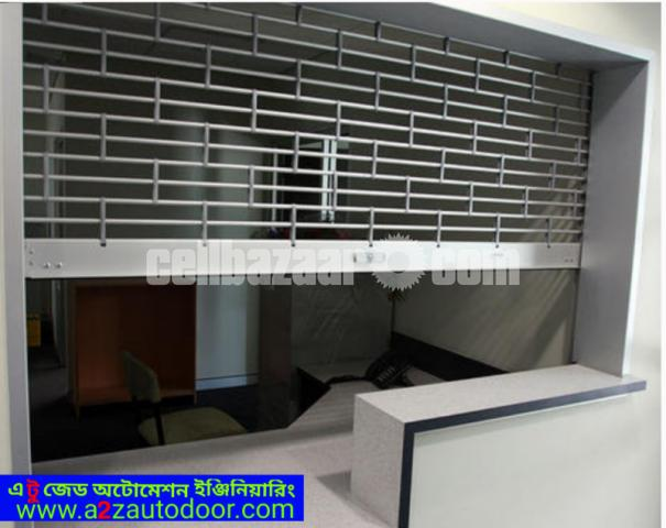 Electric grill shutter - 3/4