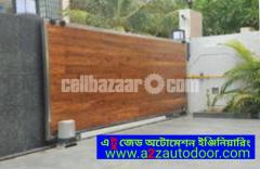Architectural design motorised gate