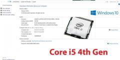 Intel Core i5 4th Gen with warrenty