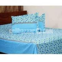 Double Size Cotton Bed Sheet 3 Pcs Set Code: DB-91