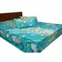 Double Size Cotton Bed Sheet 3 Pcs Set Code: DJ-344