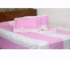 Double Size Cotton Bed Sheet 3 Pcs Set Code: DJ-345