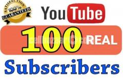 100 Real Youtube Subscriber