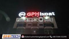 neon Sign Board & neon Lighting with ACP Angl Background Company GPH Ispat