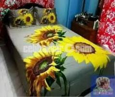 Double Size Cotton Bed Sheet Set Product Code: PB-56