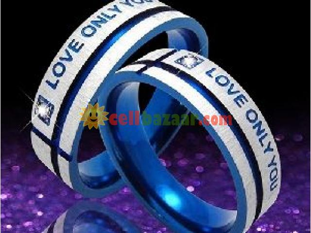 Love Couple Ring Crystal Mount Lovers' Ring - 1/2