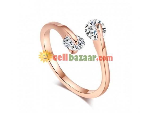 Double Fair Crystal Finger Rings - 1/2