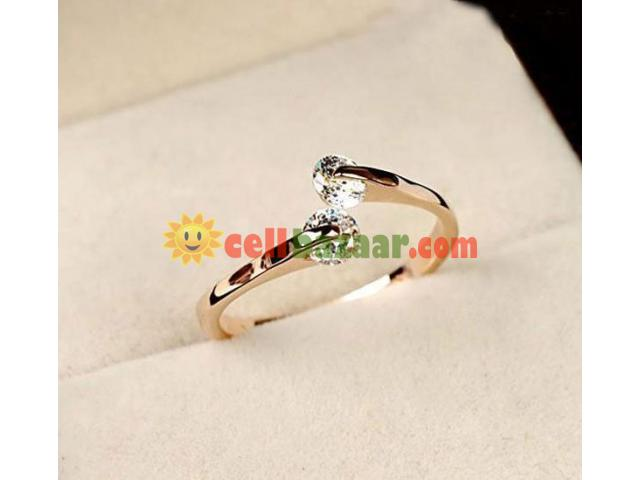 Double Fair Crystal Finger Rings - 2/2