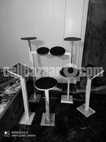 Wood practice Drum kit - 1/3