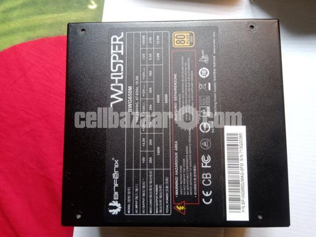 BitFenix Whisper M 650 80 Plus Gold Full Modular P S - 3/5