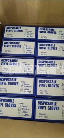 Disposable Vinyl Gloves Box - 2/4