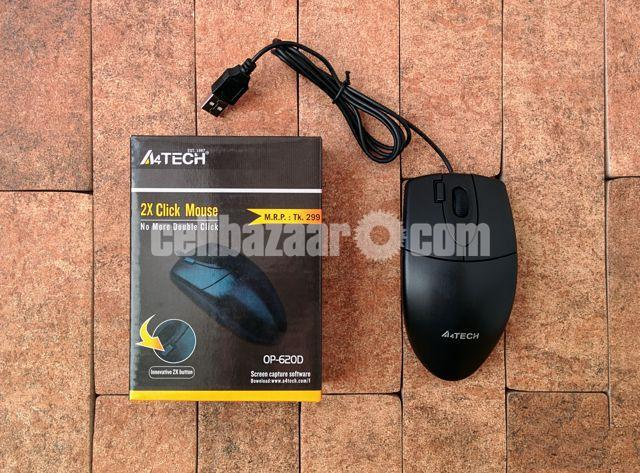 A4TECH OP-620D 2X CLICK WIRED MOUSE - 4/5