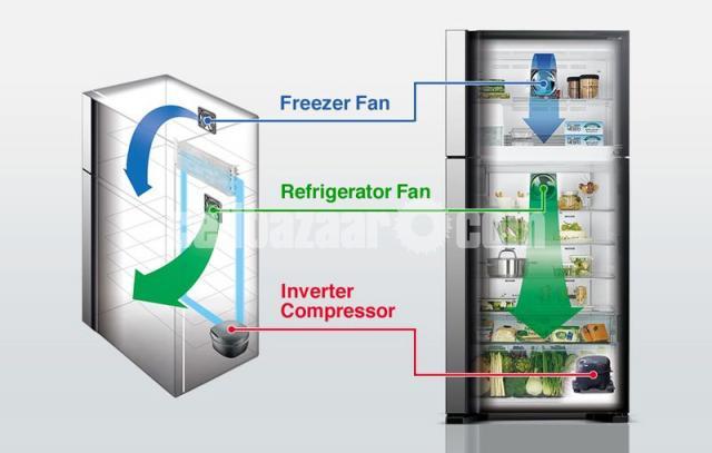 Hitachi Stylish Line Refrigerator I R-V420P8PB (BBK) - 2/5