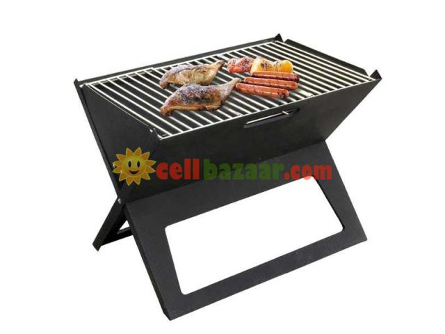 Flat-Folding Portable BBQ Charcoal Grill Maker - 1/5