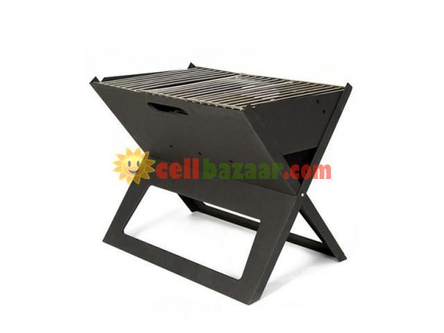 Flat-Folding Portable BBQ Charcoal Grill Maker - 2/5
