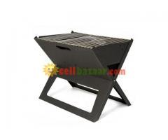 Flat-Folding Portable BBQ Charcoal Grill Maker - Image 2/5