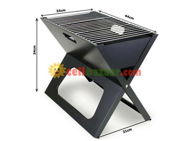 Flat-Folding Portable BBQ Charcoal Grill Maker - 3/5