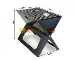 Flat-Folding Portable BBQ Charcoal Grill Maker - Image 3/5