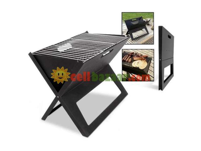 Flat-Folding Portable BBQ Charcoal Grill Maker - 4/5