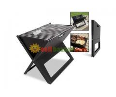 Flat-Folding Portable BBQ Charcoal Grill Maker - Image 4/5