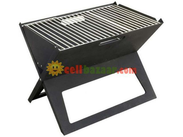 Flat-Folding Portable BBQ Charcoal Grill Maker - 5/5
