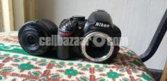 Nikon D3100 with 18mm to 55mm kit lens