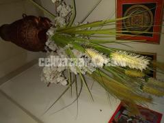 Handmade Flower Vase (with flowers)